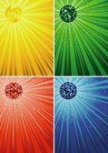 Disco Ball Backgrounds — Stock Vector