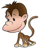 Puppy Monkey — Stock Vector