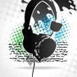 Royalty-Free Stock Imagem Vetorial: Beautiful headphone design