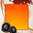 Royalty-Free Stock Imagem Vetorial: Speaker music art