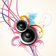 Stock Vector: Vector speaker art