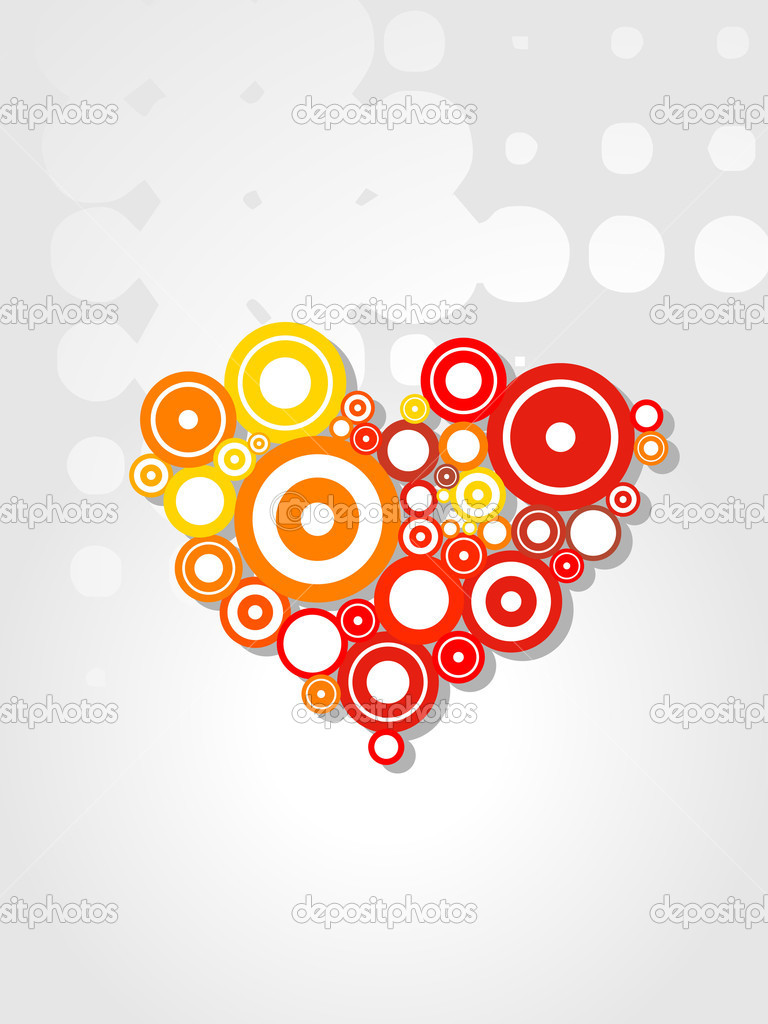 Vector funky artistic colorful heart design — Stock Vector #3026319