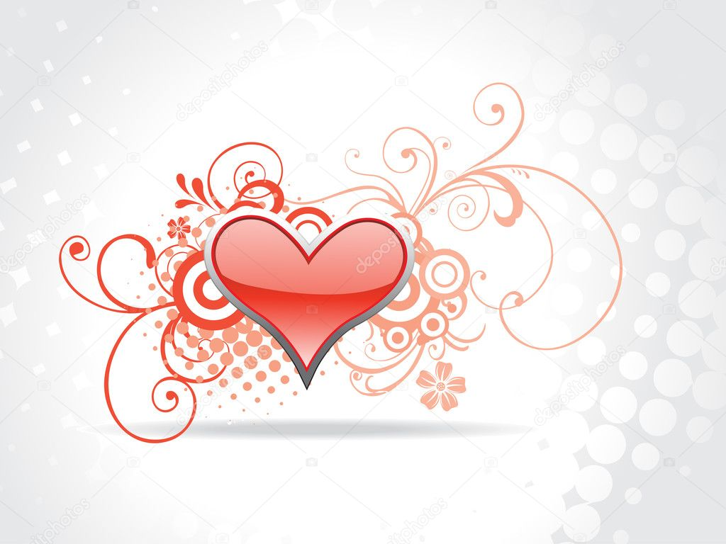 Beautiful heart background art  Stock Vector #3173644