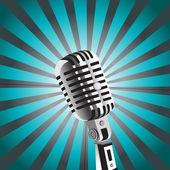 Vector mic background — Stock Vector