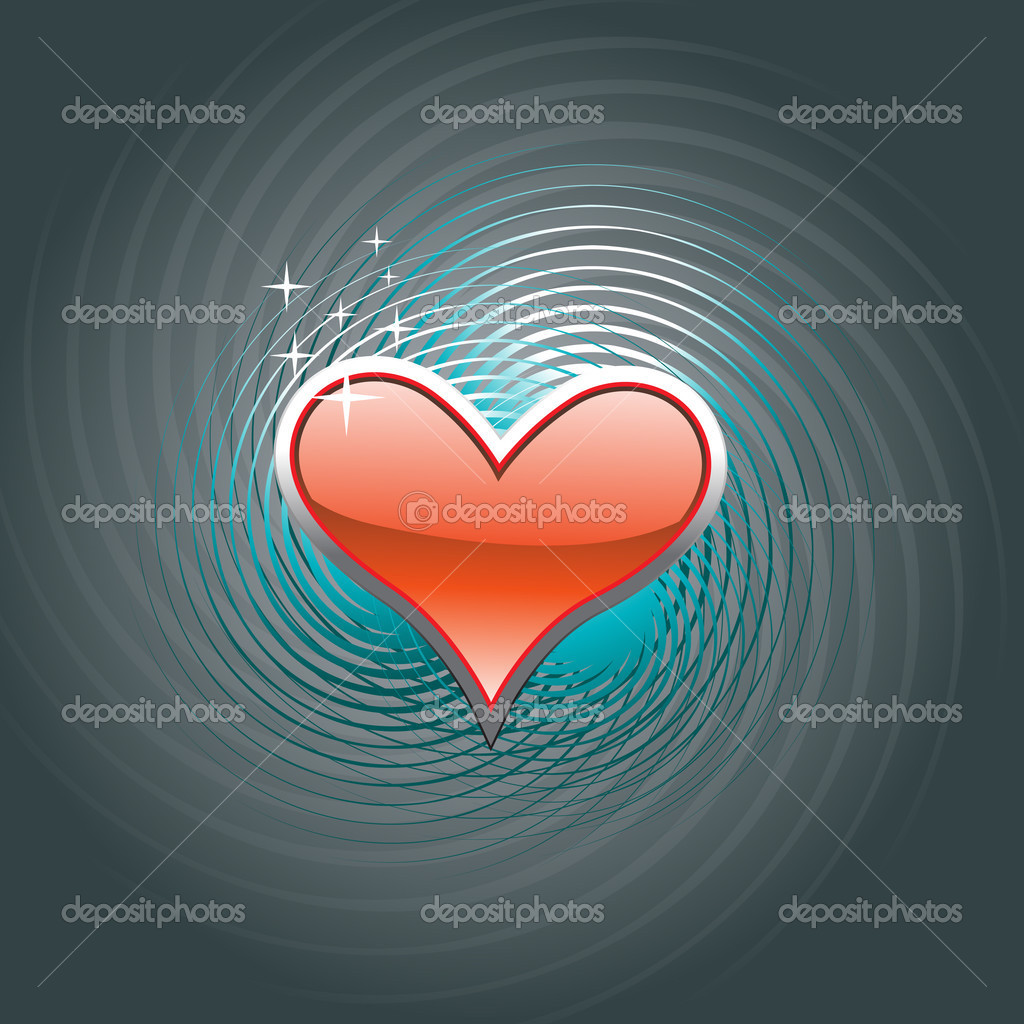 Beautiful red heart vector design background  — Stock Vector #3253389