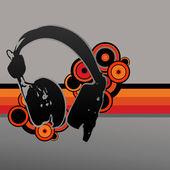 Vector headphone design — Stock Vector
