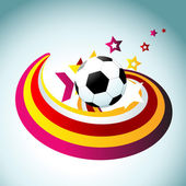 Fußball vektor künstlerische gestaltung — Stockvektor