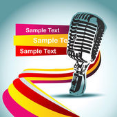 Abstract vector mic background — Stock Vector