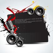 Vektor musik bakgrund — Stockvektor
