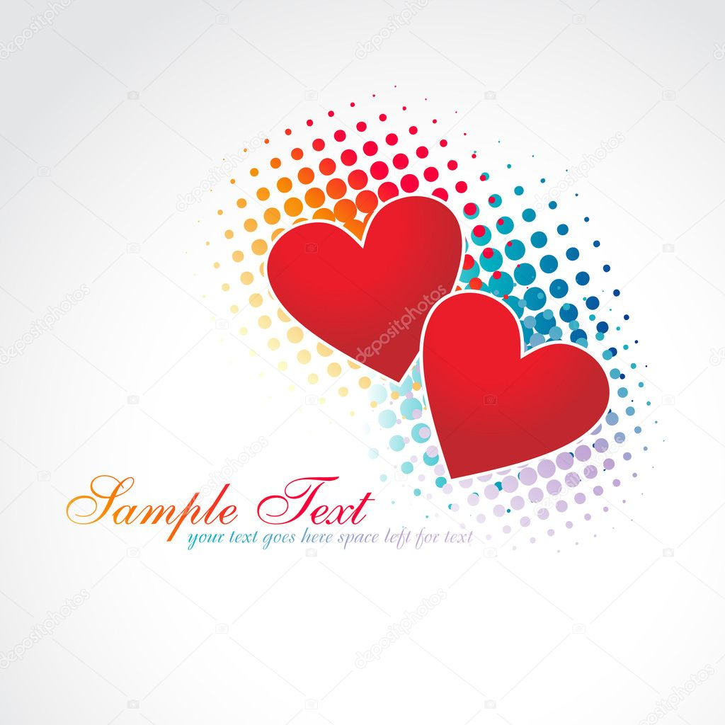 Beautiful vector heart design illustration — Stock Vector #3733813
