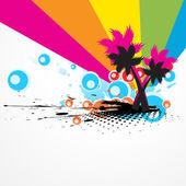 Drzewo kolorowy streszczenie wektor — Wektor stockowy