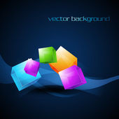 Vector colorful box — Stock Vector