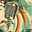 Wektor stockowy : Abstract grungy vector mic
