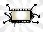 Photo reel vector art — Stock Vector