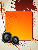Speaker music art — Stock Vector