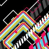 Abstract vector disco art — Stock Vector