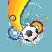 Фанки футбол дизайн — Cтоковый вектор