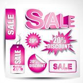 Prodej prvků vektorů — Stock vektor