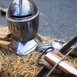 Iron knight armature — Stock Photo