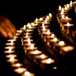 Candle light in a church — Stock Photo #2978448