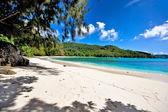 Beautiful beach on seychelles — Stock Photo