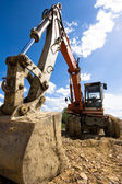 Bulldozer in action — Stock Photo