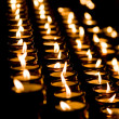 Candle light in a church — Stock Photo