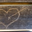 Royalty-Free Stock Photo: Heart on wood
