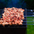 Stock Photo: Beef Shishkabobs