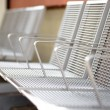 Metal seats — Stock Photo