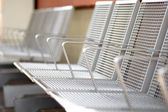 Metal seats — Stockfoto