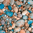 Color pebble collected in Germany — Stock Photo