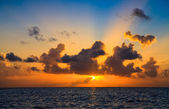 Maldivian Sunset — Stockfoto