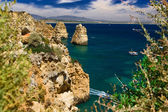 Algarve rock - wybrzeże w portugalii — Zdjęcie stockowe