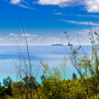 180° panorama of praslin - Stock Photo