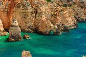Rocha algarve - costa em portugal — Foto Stock