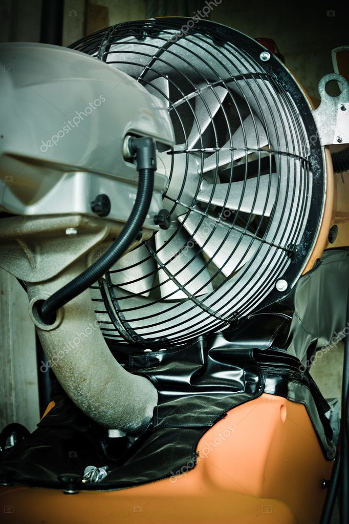 Image of a  snow  cannon or jet engine — Stock Photo #3647624