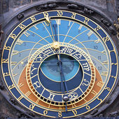 The Prague Astronomical Clock - square — Stock Photo