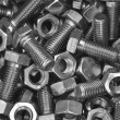 Bolts and nuts - Stock Photo