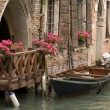 Stock Photo: Balcony in Venice, Italy