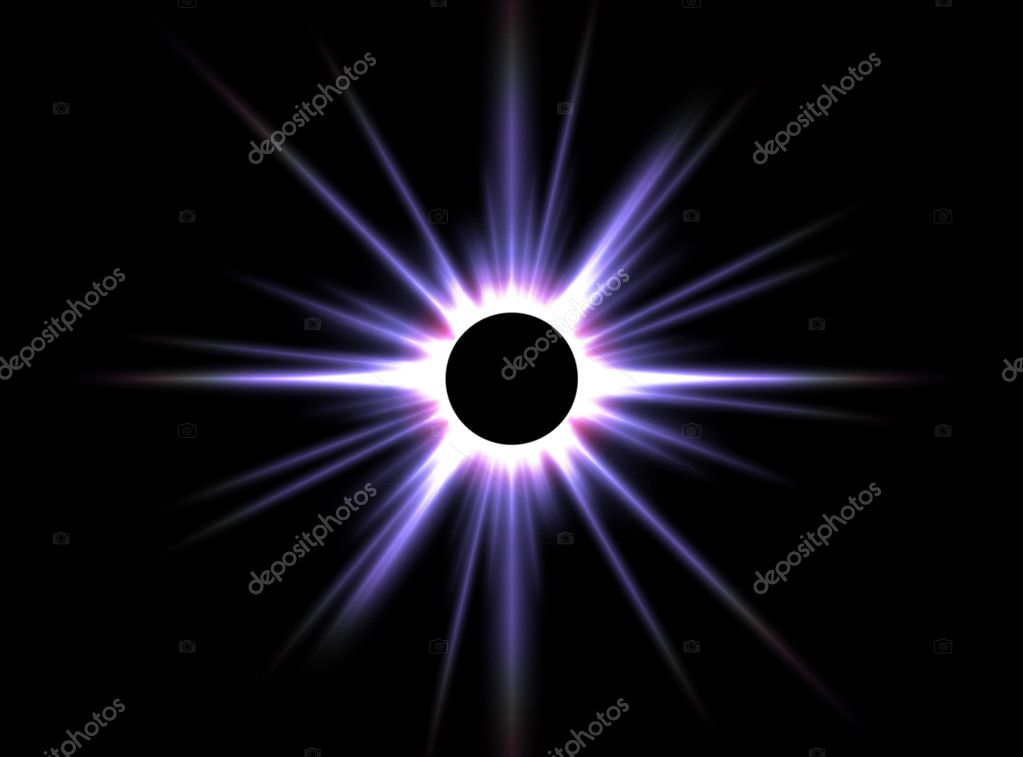 This image shows a computer generated solar eclipse — Stock Photo #2850180