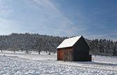 Cabin in Winter — Stock Photo