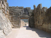 Lion Gate at Mycenae — Stock Photo