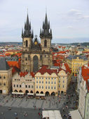 Tynsky church in Prague — Stock Photo