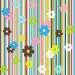 Stock Photo: Background with stripes and flowers