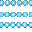 Blue round buttons with icons for pc — Stock Photo #2837244