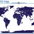 Blue world map — Stock Photo #2837276