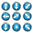 Buttons for web design, arrow icon set — Stock Photo