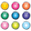 Stock Photo: Collection of colored buttons