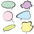 Chat bubbles in different colors — Stock Photo